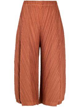 Pleats Please Issey Miyake укороченные брюки с плиссировкой PP16JF415