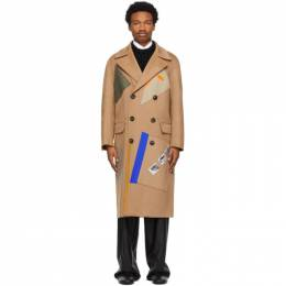 Raf Simons Beige Sterling Ruby Edition Patches Coat A01-606