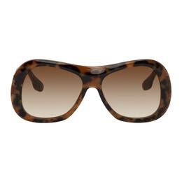 Victoria Beckham Tortoiseshell Large Bevelled Butterfly Sunglasses VB623S 228 886895489454