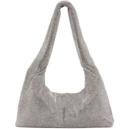 Kara Silver Crystal Mesh Armpit Bag HB276-1305
