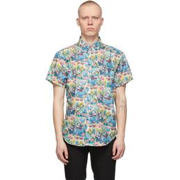 Naked And Famous Denim Multicolor Flower Easy Short Sleeve Shirt 120310015