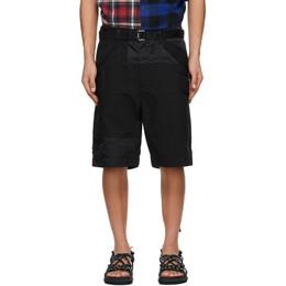 Sacai Black Oxford Shorts 21-02506M