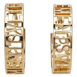 Vetements Gold Logo Hoop Earrings WE51EA100G