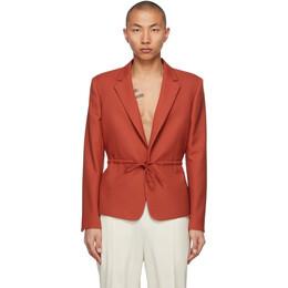 Random Identities Orange Tie Blazer T-33
