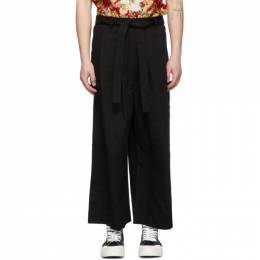 Naked And Famous Denim SSENSE Exclusive Black Oxford Wide Trousers SSE258748