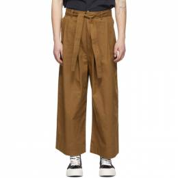 Naked And Famous Denim SSENSE Exclusive Tan Oxford Wide Trousers SSE258248