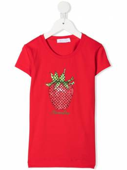 Monnalisa embellished-strawberry T-shirt 197620PB7048