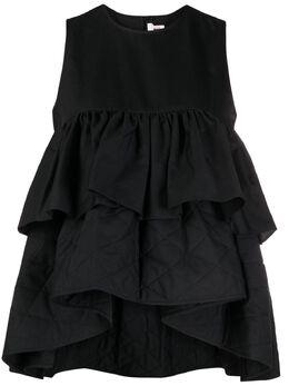 Comme Des Garcons Noir Kei Ninomiya многослойная блузка без рукавов 3GB006051