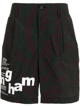 Kolor шорты с контрастным принтом 21SCMP02101