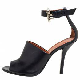 Givenchy Black Leather Ankle Strap Sandals Size 37 399108