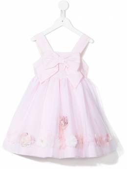 Lapin House платье с цветочным принтом и бантом 211E3120