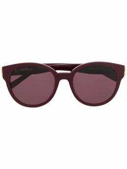 Balenciaga Eyewear солнцезащитные очки в круглой оправе BB0134SA