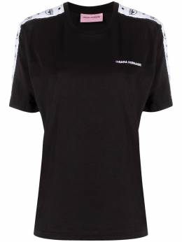 Chiara Ferragni футболка с контрастными полосками и логотипом 21PECFT124