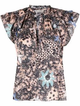 Ulla Johnson блузка с завязками и принтом SP210224