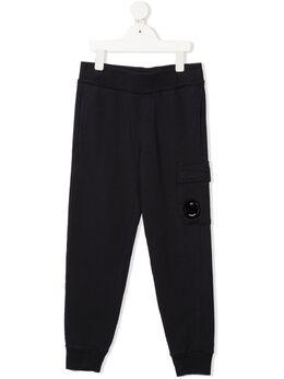 C.P. Company Kids брюки с нашивкой-логотипом 10CKSP063A003569W