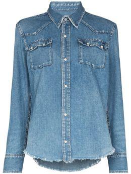 Re/Done джинсовая рубашка Upcycled в стиле вестерн 1581W50WS