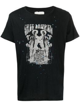 Greg Lauren футболка с графичным принтом BM156