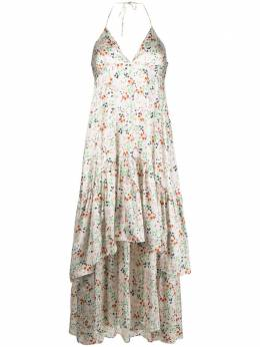 L'Autre Chose ярусное платье с вырезом халтер и цветочным принтом B2511031