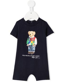 Ralph Lauren Kids ромпер с принтом Polo Bear 320839086002