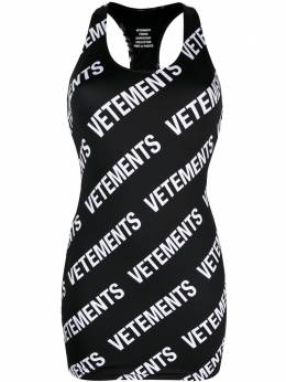 Vetements платье мини с логотипом WE51DR650W