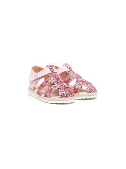 Florens сандалии с ремешками и блестками E0425