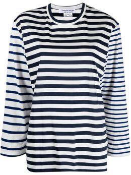 Comme Des Garcons Comme Des Garcons полосатая футболка с длинными рукавами RGT024S21
