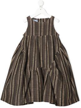 Mi Mi Sol расклешенное платье с вышивкой MFAB227LUTS0433