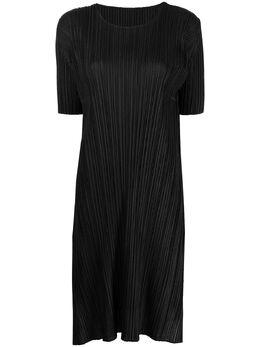 Pleats Please Issey Miyake платье-трапеция Mellow PP16JH456