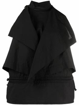 Lemaire многослойная блузка без рукавов с высоким воротником W211TO404LF580