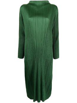 Pleats Please Issey Miyake платье миди February с плиссировкой PP16JH145