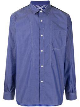 Junya Watanabe Man рубашка в контрастную полоску WGB015051