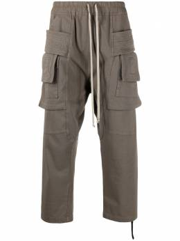 Rick Owens DRKSHDW укороченные брюки карго DU21S2371RIG