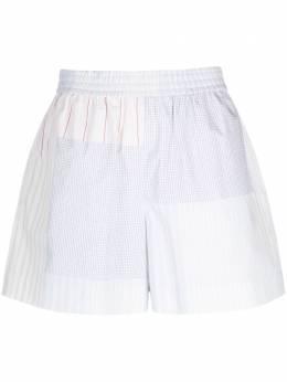 See By Chloe полосатые шорты в технике пэчворк CHS21USH01035