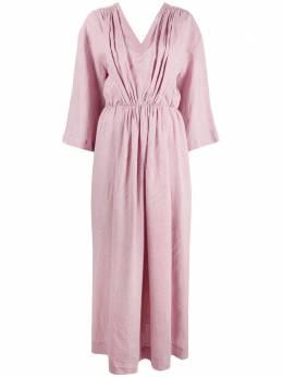 Ballantyne платье макси с V-образным вырезом и сборками SLD128ULI43