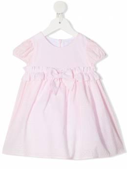 Monnalisa платье с короткими рукавами и бантом 3779107940