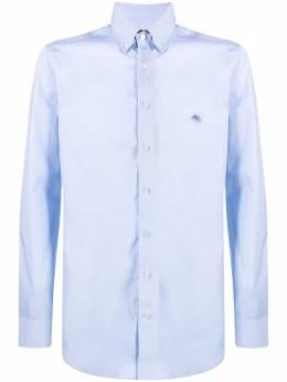 Etro рубашка с вышитым логотипом 1K9646100