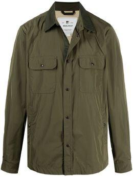 Woolrich куртка-рубашка с контрастным воротником WOOU0378MRUT0573