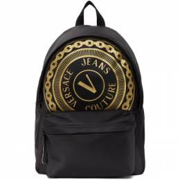 Versace Jeans Couture Black Barocco Big Logo Backpack EE1YWAB81 E71889