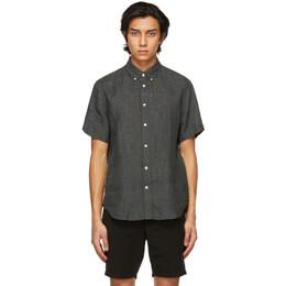 Rag&Bone Grey Linen Tomlin Shirt MBW21SA0134KML