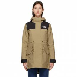 The North Face Beige and Black Metroview Trench Coat NF0A4AM1