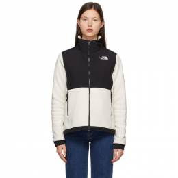The North Face White and Black Denali 2 Sweater NF0A4R2U