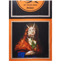 Burberry Multicolor Silk Montage Scarf 8039876