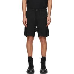 Boris Bidjan Saberi Black Double Object-Dyed Shorts 130-P7.1-F1501M
