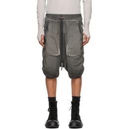 Boris Bidjan Saberi Grey Resin-Dyed Shorts 141-P8.1-F0409C