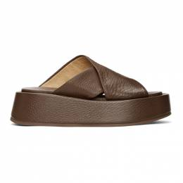 Marsell Brown Piattaforma Sandals MW6320 188
