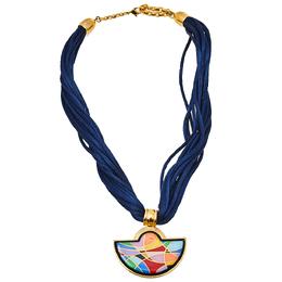 Frey Wille Ode to Joy of Life Heavenly Joy Halfmoon Pendant Multistrand Cord Necklace 399207