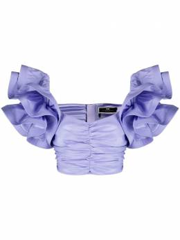 Elisabetta Franchi блузка с оборками TO02511E2