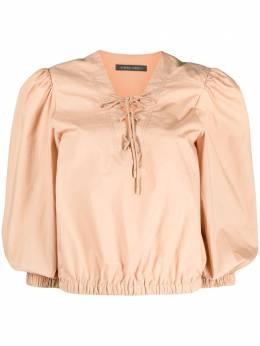 Alberta Ferretti блузка с завязками на воротнике A02150126