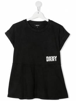 DKNY Kids футболка с логотипом D35R25