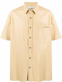Nanushka рубашка Adam из искусственной кожи NM21SSSH00111